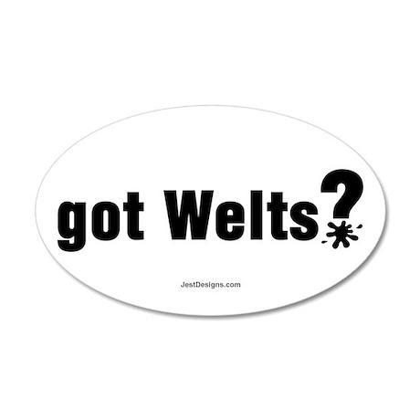 Got Paintball Welts 35x21 Oval Wall Peel