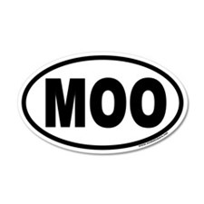 MOO Euro Style 35x21 Oval Wall Peel for Cow Lovers