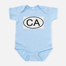 California - CA - US Oval Infant Creeper