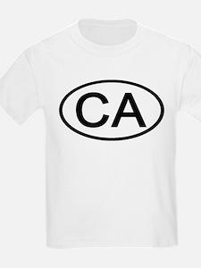 California - CA - US Oval Kids T-Shirt