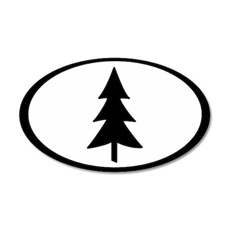 Tree 35x21 Oval Wall Peel
