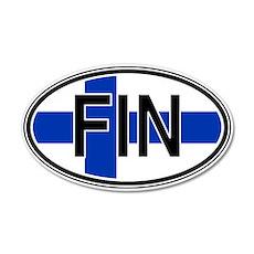 Finland Euro 20x12 Oval Wall Peel