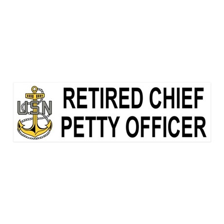 Retired Navy Chief <BR>20x6 Wall Peel