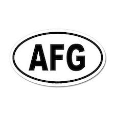 AFG 20x12 Oval Wall Peel