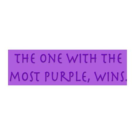 Purple Wins 36x11 Wall Peel