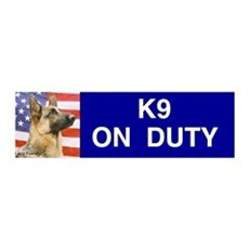 All American Military and Police K9 Sticker (Bumpe