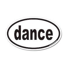 dance euro oval sticker