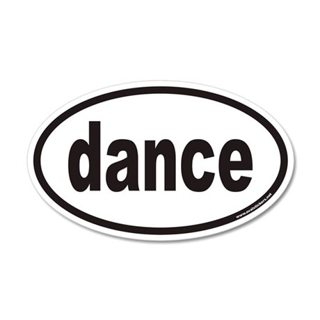 dance euro oval sticker
