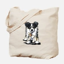 Tri-Color Border Collie Tote Bag