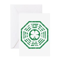 Dharma Luck Green Greeting Card