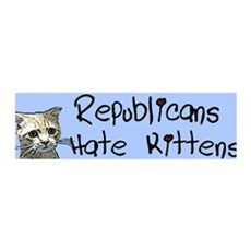 Republicans Hate Kittens 36x11 Wall Peel