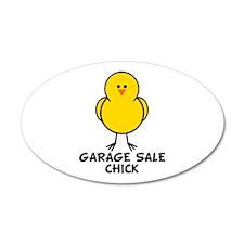 Garage Sale Chick 20x12 Oval Wall Peel