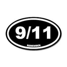 9/11 Remember Black Euro 20x12 Oval Wall Peel