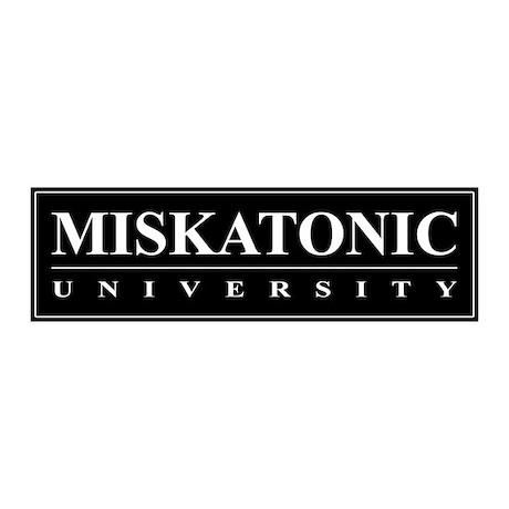Miskatonic University 20x6 Wall Peel (Black)