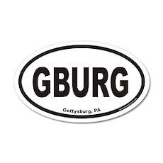 Gettysburg GBURG Euro 20x12 Oval Wall Peel