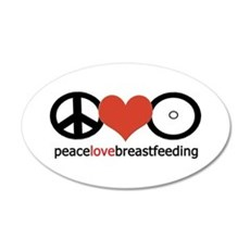 Peace, Love & Breastfeeding 20x12 Oval Wall Pe