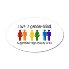 Marriage Equality 20x12 Oval Wall Peel