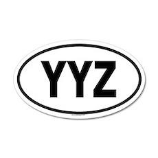 YYZ 20x12 Oval Wall Peel