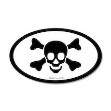 Skull & Bones Pirate 20x12 Oval Wall Peel