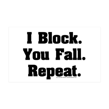 I Block! 35x21 Wall Peel