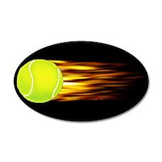 Tennis Flames 20x12 Oval Wall Peel