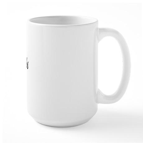 Cancer Sucks (Script) Large Mug
