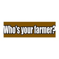 Who's Your Farmer 36x11 Wall Peel
