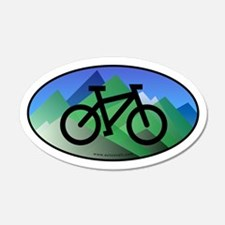 Mountain Bike Color Auto Decal (Oval)