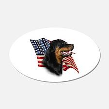 Rottweiler Flag 20x12 Oval Wall Peel