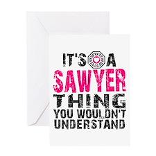 Sawyer Thing Greeting Card