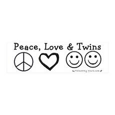 Peace, Love & Twins 36x11 Wall Peel