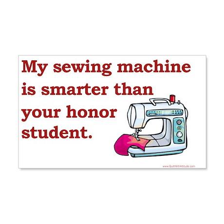 Sewing Machine/Honor Student 20x12 Wall Peel