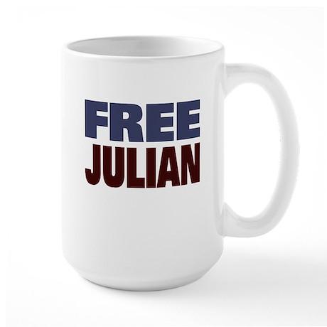 Free Julian Assange Large Mug