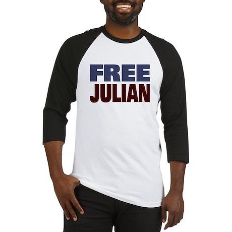 Free Julian Assange Baseball Jersey