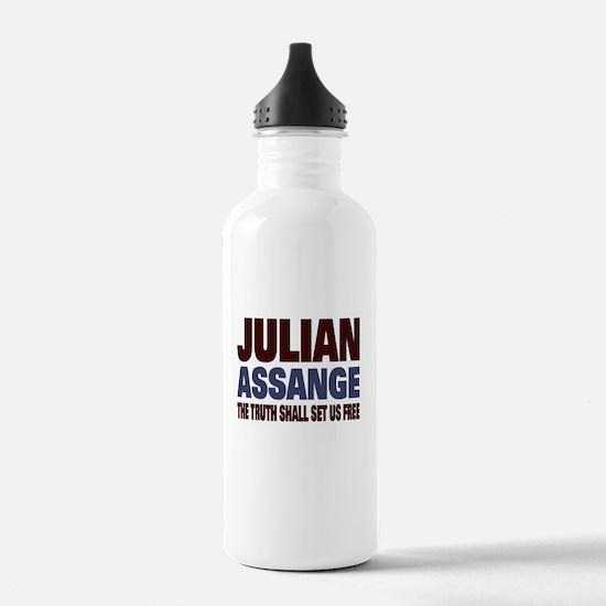 Julian Assange Water Bottle
