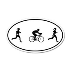 Women's Duathlon 20x12 Oval Wall Peel