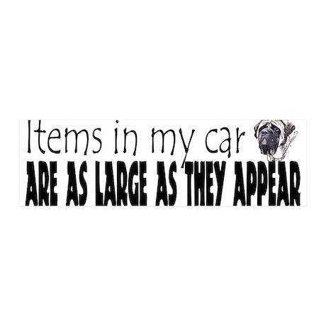 Items in my car - Mastiff 36x11 Wall Peel