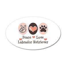 Peace Love Labrador Retriever 20x12 Oval Wall Peel