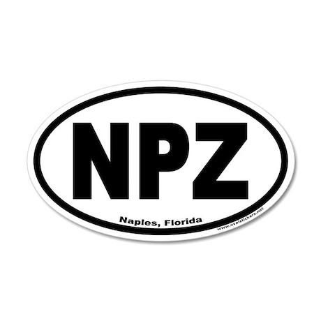 Naples, Florida NPZ 20x12 Oval Wall Peel