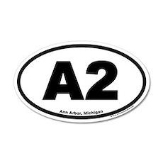 A2 Ann Arbor Michigan Euro 20x12 Oval Wall Peel