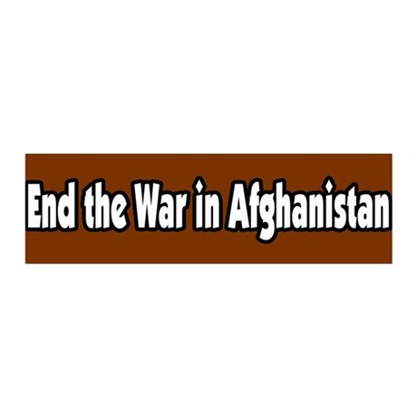End the war in Afghanistan Peace 36x11 Wall Peel