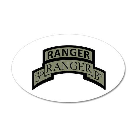 3rd Ranger Bn Scroll/Tab ACU 35x21 Oval Wall Peel