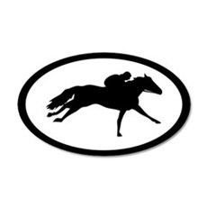 Racehorse thoroughbred 20x12 Oval Wall Peel