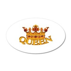 QUEEN crown 20x12 Oval Wall Peel
