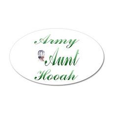 army aunt hooah 20x12 Oval Wall Peel