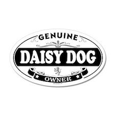 DAISY DOG 20x12 Oval Wall Peel