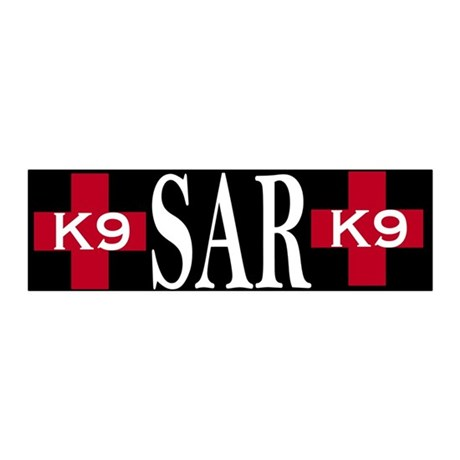 Red Crosses K9 SAR bumper stiker