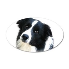 Border Collie Portrait Water Colour Wall Decal