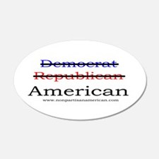 Nonpartisan American 20x12 Oval Wall Peel