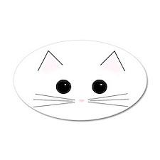 Kitty Face 20x12 Oval Wall Peel